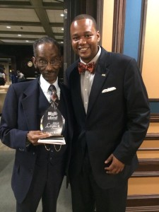 PBMF Vice President Brian Cook presented the Legacy Award to veteran journalist Allen King at the 26th annual Robert L. Vann Media Awards on Sept. 4.  The program was held at the University of Pittsburgh's O'Hara Student Center.